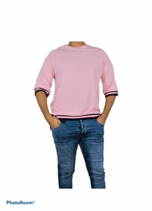 Used Pink T-shirt long sleeve all size ava  in Dubai, UAE