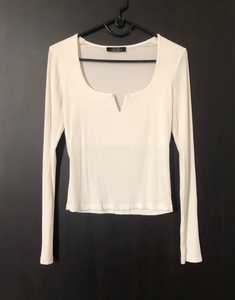 Used Bershka White Full Sleeve Top in Dubai, UAE