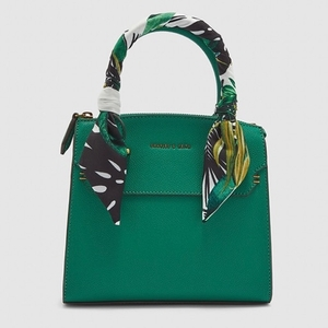 Used Charles & Keith green bag with scarf in Dubai, UAE