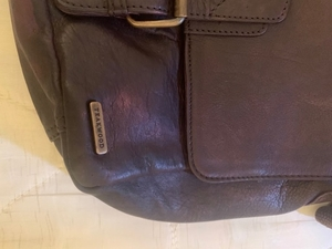 Used Teakwood genuine leather bag. in Dubai, UAE