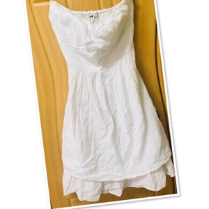 Used White Papaya tube Dress S/M 💙 in Dubai, UAE