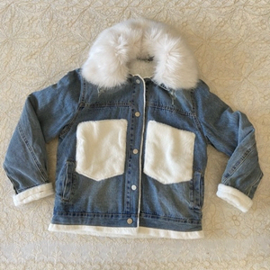 Used Faux fur denim jacket (freesize) in Dubai, UAE