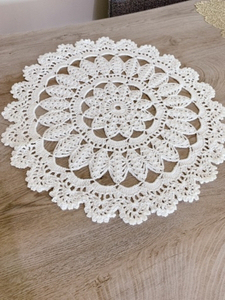 Used Handmade crochet coasters white  in Dubai, UAE