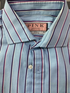 Used Pink men shirt  in Dubai, UAE