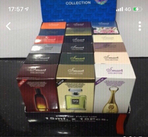 Used Miniature branded Perfumes 18 pcs box  in Dubai, UAE