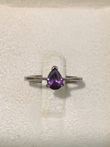 Used Real 925 silver ring with amethyst stone in Dubai, UAE