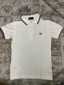 Used Fred Perry Polo shirt kids White 5-6yrs in Dubai, UAE