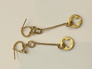 Used Louis Vuitton long dangle ring earrings  in Dubai, UAE