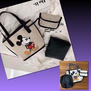 Used DISNEY 3pcs MICKEY CANVAS BAG in Dubai, UAE