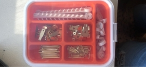 Used A Box, different hooks and nails in Dubai, UAE