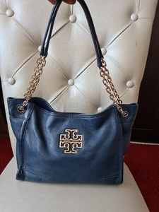 Used AUTHENTIC TORY BURCH LEATHER TOTE BAG.. in Dubai, UAE