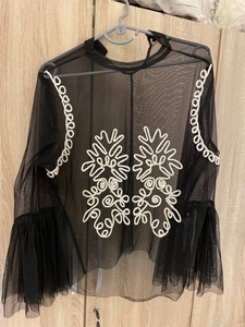 Used Splash Mesh Top with Embroidered Pattern in Dubai, UAE