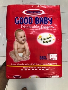 Used 36 pcs disposable diaper 8-14 kg L size in Dubai, UAE