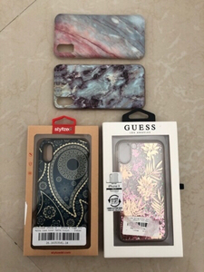 Used iPhone X case bundle: Guess,Stylized,etc in Dubai, UAE