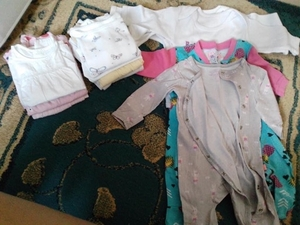 Used BABY CLOTHES FOR GIRL 0-3 and 3-6 months in Dubai, UAE