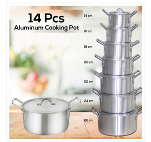 Used Aluminum Cooking Pot set  in Dubai, UAE