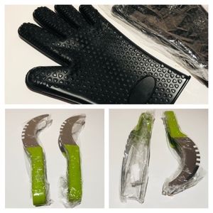 Used 2 heat resistant gloves & 2 melon cutter in Dubai, UAE