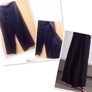 Used Flare silk  Pants Black M/L 💙 in Dubai, UAE