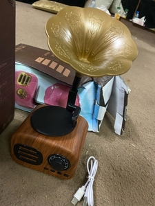 Used Retro wood portable mini Bluetooth speak in Dubai, UAE