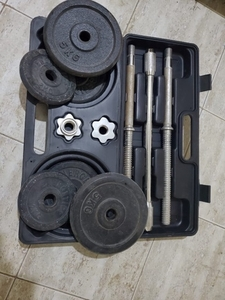 Used 20KG gym barbell set with box in Dubai, UAE