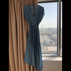 Used Zara maxi blue dress in Dubai, UAE