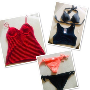 Used Red Crochet Top + swimwear / Small ♥️ in Dubai, UAE