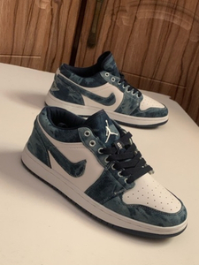 Used Nike Jordan 1 low washed denim size 41 in Dubai, UAE