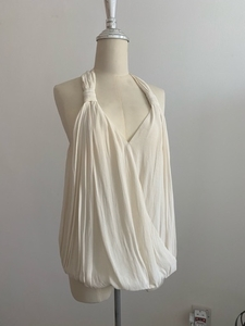 Used Zara draped floaty chiffon top sz M in Dubai, UAE
