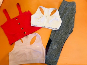 Used Sports clothes set, used once L size in Dubai, UAE