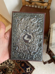 Used Antique note pad. Silver & leather  in Dubai, UAE