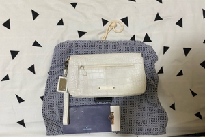 Used Hidesign white clutch- used with dustbag in Dubai, UAE