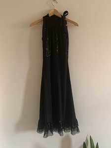 Used Fancy black bodycon dress with sequins in Dubai, UAE