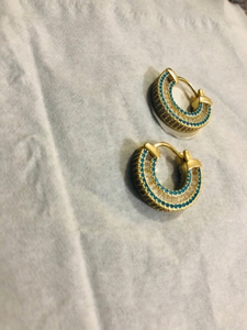Used Vermeil hoops earrings  in Dubai, UAE