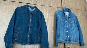 Used Jacket denim size xl women 2 pieces  in Dubai, UAE
