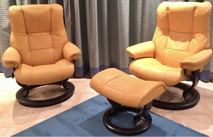 Used Stressless® Recliners & Ottoman in Dubai, UAE