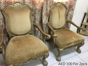 Used Chairs 2 piece 100AED (Direct Message) in Dubai, UAE