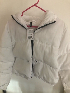 Used White Puffer Hooded Jacket from H&M in Dubai, UAE