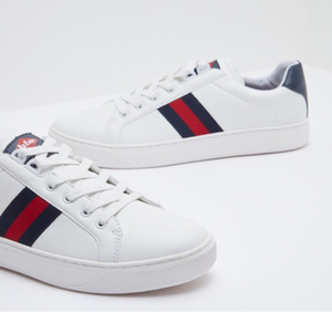 Used Lee cooper striped sneakers white shoe  in Dubai, UAE