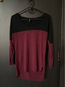 Used Cotton On Red Black Full Sleeve Top in Dubai, UAE
