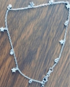 Used SILVER ANKLET ADJUSTABLE 925 in Dubai, UAE
