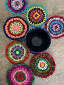Used Mandala crochet coasters  in Dubai, UAE
