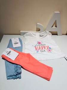 Used Baby girl set 0-3 month 3 pcs in Dubai, UAE