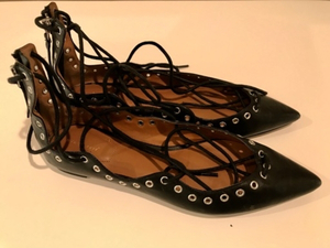 Used Zara Lace Shoes With Studs Leather - 38 in Dubai, UAE