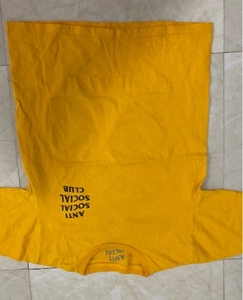 Used Anti social club yellow shirt size S in Dubai, UAE