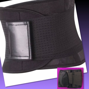Used 2 Ladies Belly Belt Black /XL-XXL in Dubai, UAE