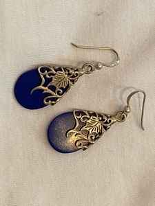 Used Blue Lapis 925 earrings  in Dubai, UAE