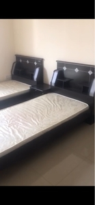 Used 2 single beds with mattress and wardrobe in Dubai, UAE