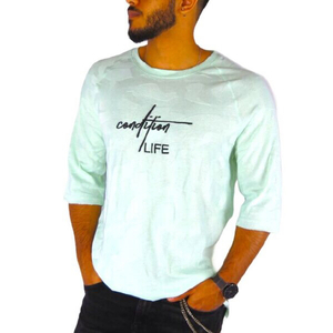 Used T shirt life style swag light blue  in Dubai, UAE