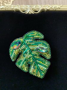 Used Handmade brooch Monstera  in Dubai, UAE