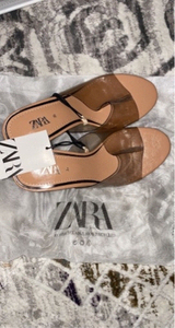 Used Zara Vinyl Mules  35EU in Dubai, UAE